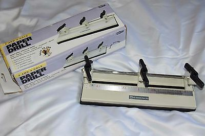 """McGill Three 2 or 3 Hole Adjustable Paper Drill - Round 1/4"""" Punch"""