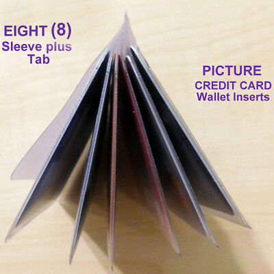 WALLET PICTURE INSERTS - 8  SLEEVE Holds 16  PICTURES/CARDS