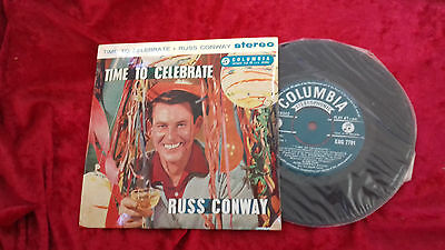 "Russ Conway time to celebrate UK 7"" ep vinyl"