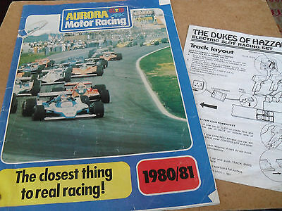 Afx Slot Car Toy Catalogue 1980/81 Uk Edition+Dukes Of Hazard Track Fair For Age