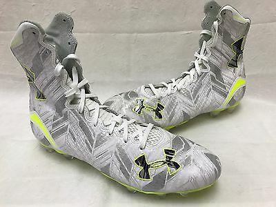 NEW! Under Armour 1264188-102 Mens Highlight MC Cleats SIZE 9.5 White/Silver I47