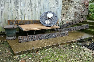 Cast Iron Industrial Ship Yard Signs From Babcock and Wilcox, London and Renfrew