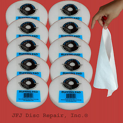 10 JFJ Easy Pro Buffing Pad - Plus 10  REUSABLE CLOTHS!