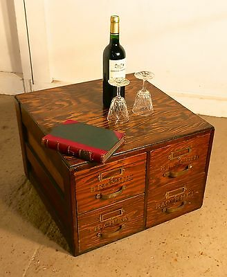 Filing Cabinet, Chemist Drawers with Gold Lettering, Coffee tables