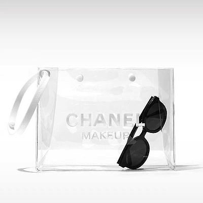 NEW CHANEL Transparent Makeup Pouch Clear Cosmetic Bag UK