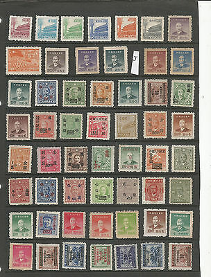 China Stamps From An Old Album Mint (J)