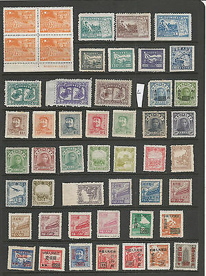 China Stamps From An Old Album Mint Imprint Block (L)