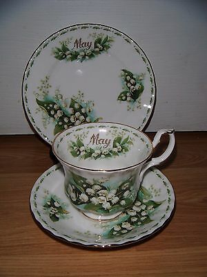 Royal Albert Flower of the Month Trio ~ May ~ Lily Of The Valley ~ 1st Quality