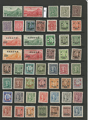 China Stamps From An Old Album Mint (O)