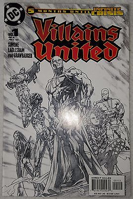 VILLAINS UNITED (2005) #1 (of 6) by Simone & Eaglesham - Variant Sketch Cover
