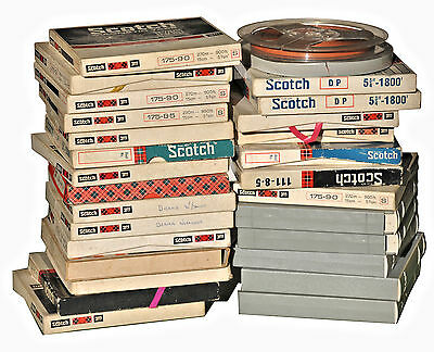 "5 3/4""Reel to Reel ¼"" Magnetic Recording Tapes"