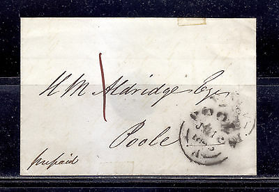 Poole A Cancel, UK, 1800's, Stampless, Prepaid