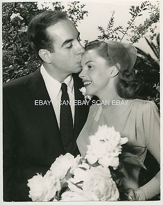 Judy Garland Vincente Minnelli Wedding Day Vintage Photo
