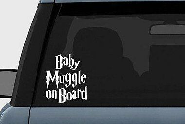 Harry Potter Baby Muggle on Board Vinyl Decal Sticker Car Windows