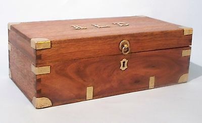 Antique Military Campaign Officer's Trunk. Box. Camphor Wood. Colonial. Unique.
