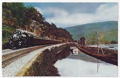 Capitol Limited Pacific #5227 Running near C&O Canal Vintage Postcard