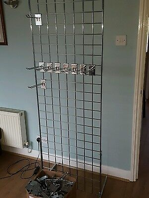Mesh Gridwall 6Ft  With 60 Euro Hooks Shop Fitting Display Free Standing