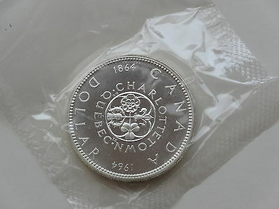 1864-1964 Canadian Silver Dollar Charlotte Town Quebec
