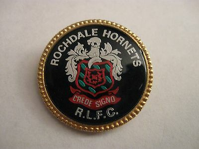 Rare Old Rochdale Hornets Rugby League Football Club (2) Metal Brooch Pin Badge