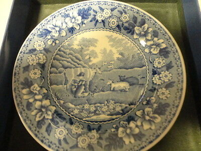 "Spode Blue Room Collection ""Milkmaid""  Miniature Plate"