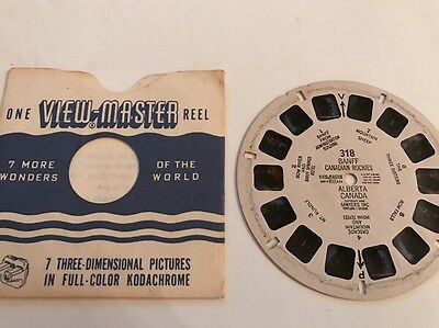 View Master Reel BANFF CANADIAN ROCKIES ALBERTA CANADA Sawyers 318