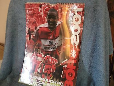 Middlesbrough Fc Official Calendar 2007 By Danilo..12 X 17 Inches...unopened