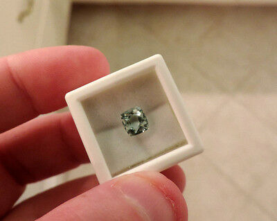 1.65ct  LIGHT Blue North Carolina Aquamarine Cushion Cut. Gorgeous Coloring