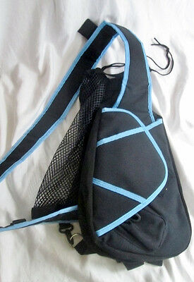 LAXSAC LAX SAC TWO STICK LACROSSE SLING PADDED HANDS FREE CARRYALL BAG Case BLAC