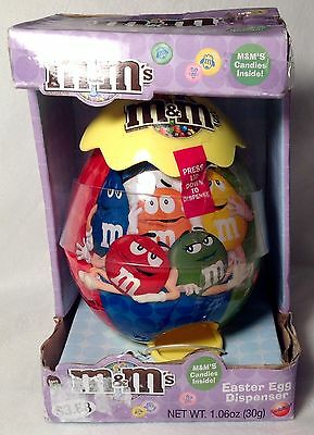 M&M Easter Egg Dispenser Yellow Collectible NIB & FREE SHIPPING