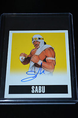 2014 Leaf Originals Wrestling Alternate Art Yellow Autograph Sabu 13/25