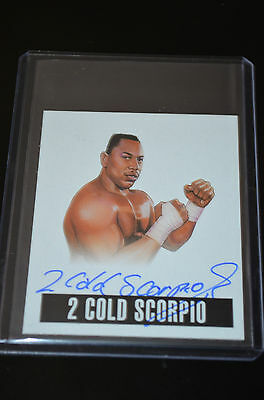 2014 Leaf Originals Wrestling Autograph 2 Cold Scorpio SP
