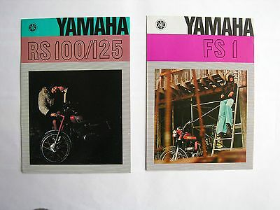 YAMAHA 2 livrets publicitaires 4 pages A4, advertising RS 100/125 & FS1 TBE