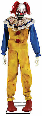 Halloween Animated Life Size Twitching Clown Sounds  Prop Decoration