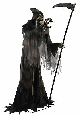 Lunging Reaper Animated Prop Lifesize 6 Feet Halloween Haunted House Decoration