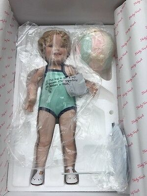 Shirley Temple Toddler Doll Bathing Beauty Danbury Mint . Ball. Original Box.