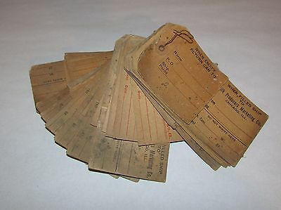 50 Vintage Cream Shipping Tags Milk Collectibles Chicago Illinois w/Wire Holder