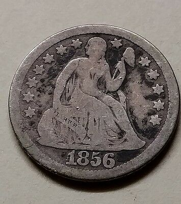 1856 large date seated dime