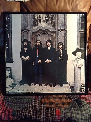 "The Beatles Vintage Framed Picture Art Poster 25"" X 25"". ( The Beatles Again )"