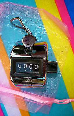 Lap counter tally metal hand held click top with thumb good gift