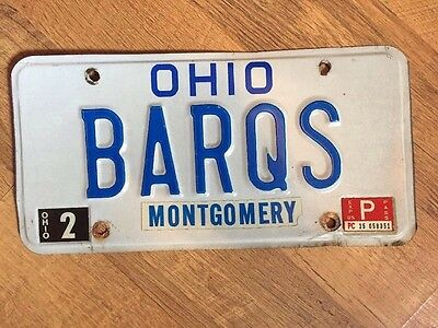 Barq's Root Beer Soda Pop Novelty Ohio License Plate