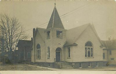 St. Marks Lutheran Church - ALBION IN - 1949 RPPC  - 6670
