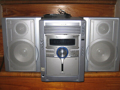 Sharp Micro Component System with 2 Speakers, 5CD Changer & MP3 player xl-mp130