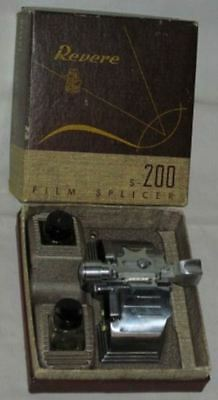 *Vintage*REVERE Camera Co*S-200 FILM SPLICER*8mm & 16mm*MOVIE FILM*Box*NR*