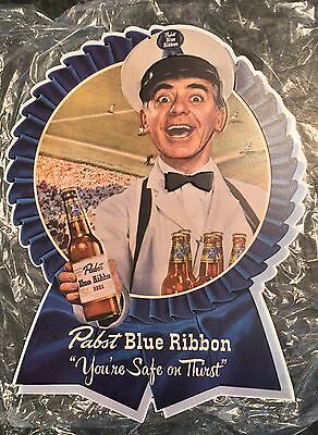 """Pabst Blue Ribbon """"You're Safe On Thirst"""" Metal Beer Sign 23.5x18"""" - Brand New!"""