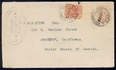 Transvaal 1895 Stamp Dealer Cover To Usa
