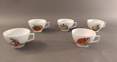 5~Vintage SPM Bayreuth Walkure Bavaria Germany pocelain~cups/mugs~Vegetables