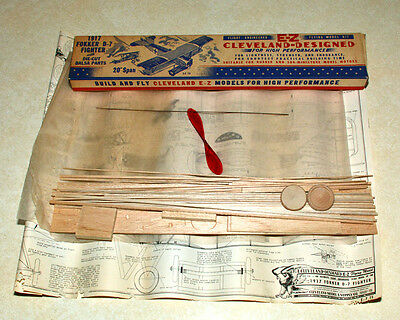 Cleveland 1917 Fokker D-7 Rubber Band Powered Model Airplane Kit
