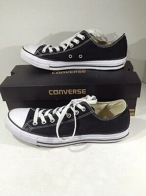 CONVERSE All-Star OX M 10 / W 12 Black Canvas M9166 Low Sneakers Shoes Z9-240