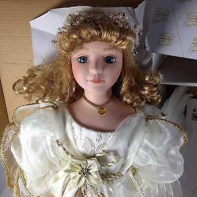 "Angelica Porcelain Angel Doll w/ Wings XL 18"" Heritage Signature Collection 2002"