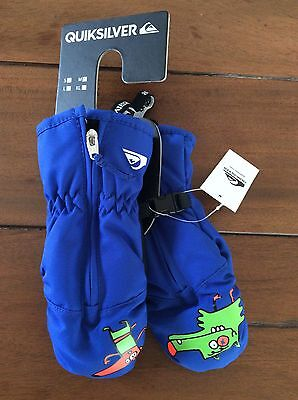Quiksilver Mittens To Fit 2-4 Years. New With Tags.